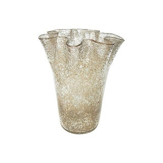 Large Murano Aventurine Handkerchief Vase