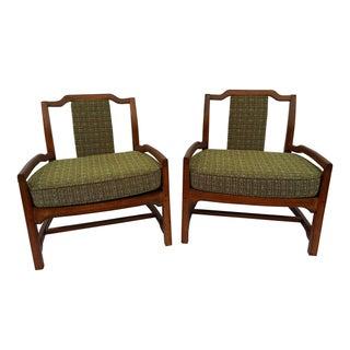 Mid-Century Asian Influenced Armchairs