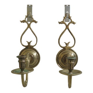 Virginia Metalcrafters Colonial Williamsburg Candle Sconces - a Pair For Sale