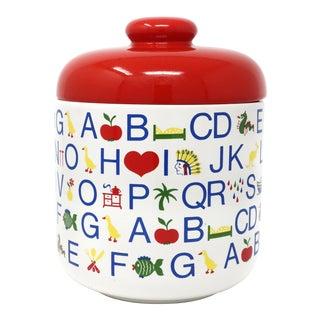 Vintage Waechtersbach Ceramic Alphabet Cookie Jar For Sale