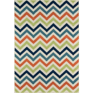 "Momeni Baja Multi Indoor/Outdoor Rug - 6'7"" X 9'6"" For Sale"
