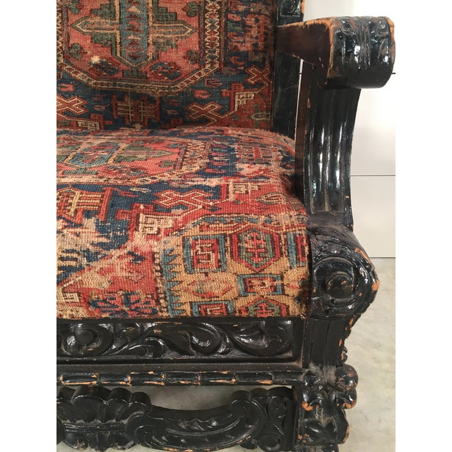Antique Mexican Arm Chair - Image 5 of 7