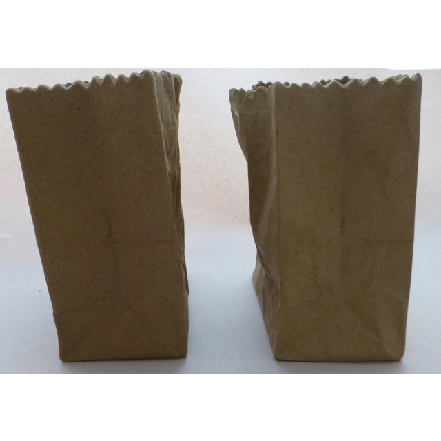 Tapio Wirkkala Rosenthal Paper Bag Vases- A Pair For Sale In Boston - Image 6 of 10