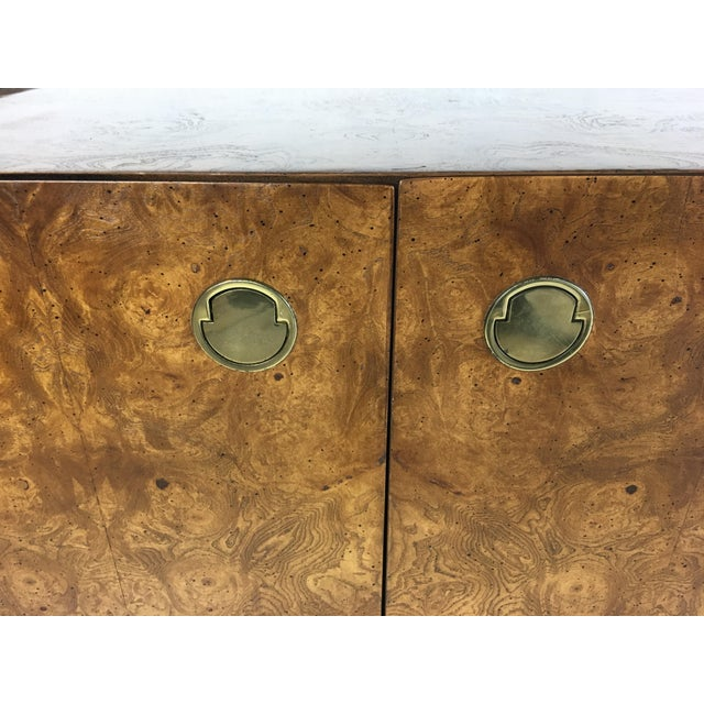 Extraordinary Mahogany and Elmwood Burl Sideboard Cabinet For Sale - Image 4 of 6