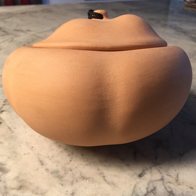 Elsa Peretti Terra Cotta Pumpkin Pot With Silk - Image 4 of 8