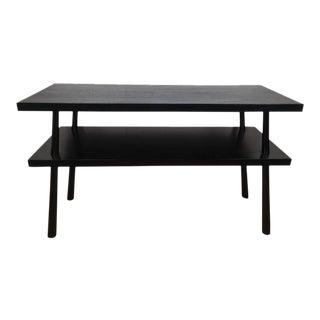 Two-Tier Ebonized Console Table by T.H. Robsjohn-Gibbings