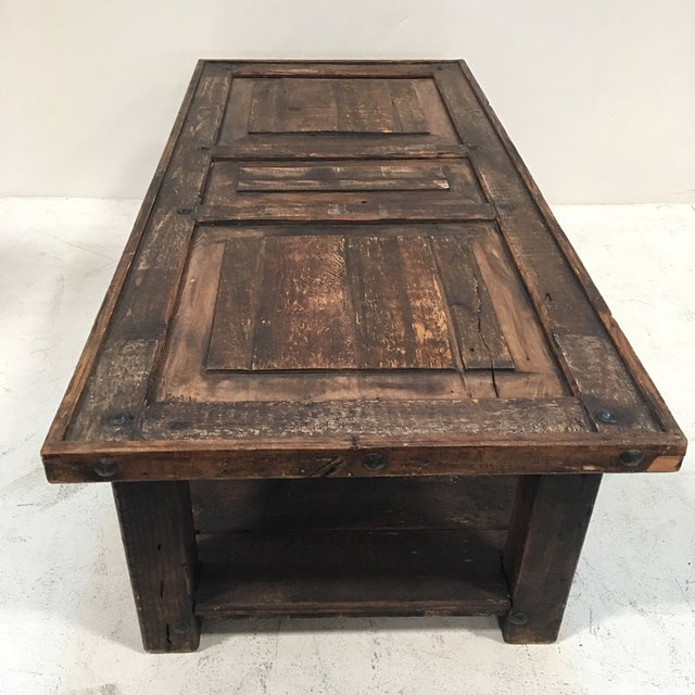 Rustic Wooden Coffee Table - Image 7 of 8
