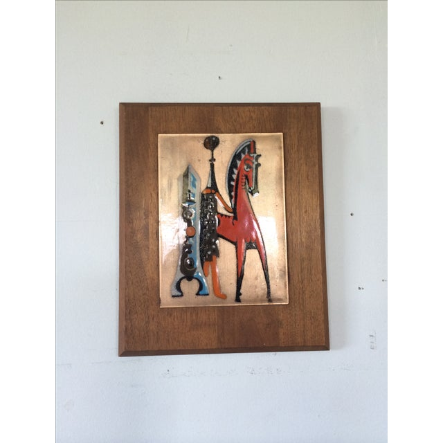 Mid-Century Copper Art with Horse For Sale - Image 6 of 6