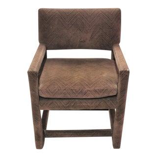 Vintage Milo Baughman Style Parsons Arm Chair For Sale