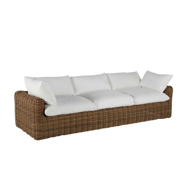 Resin Summer Classics Montecito Sofa in Linen Snow For Sale - Image 7 of 7