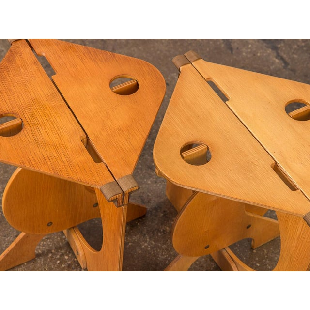 1960s Barry Simpson Rooster Folding Stools - a Pair For Sale In New York - Image 6 of 12
