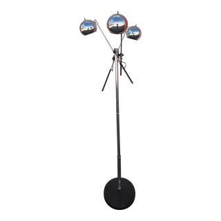 Mid-Century Modern Chrome Three Light Floor Lamp For Sale