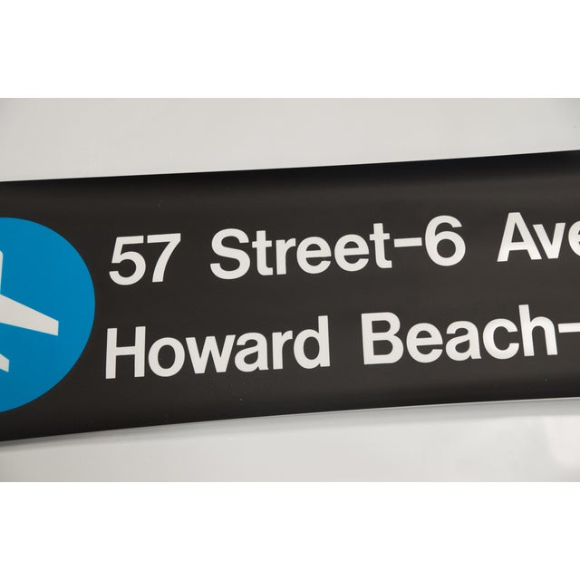 """Vintage New York """"Train to the Plane"""" Subway Sign - Image 4 of 5"""