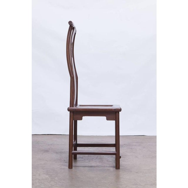 Chinese Yoke Back Officials Hat Chairs - Set of 6 - Image 3 of 10