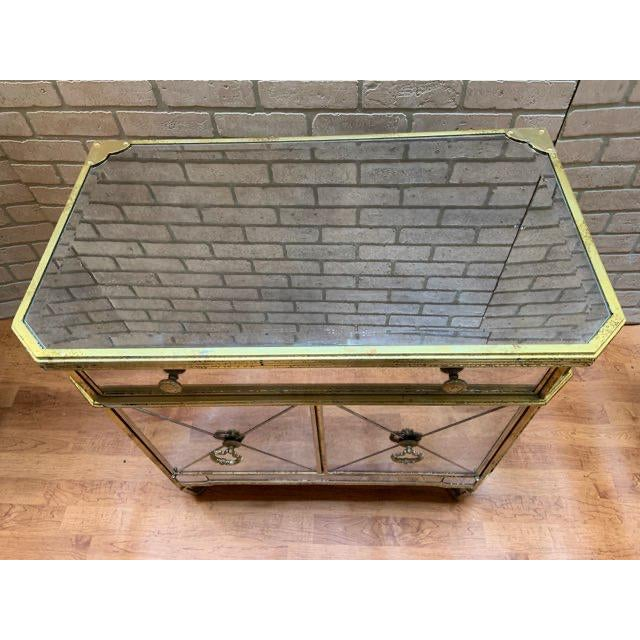 Hollywood Regency Style Butler Specialty Company Mirrored Console Cabinet For Sale - Image 9 of 13