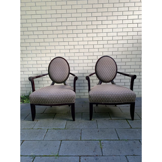 Brown Barbara Barry Baker Chairs - a Pair For Sale - Image 8 of 8