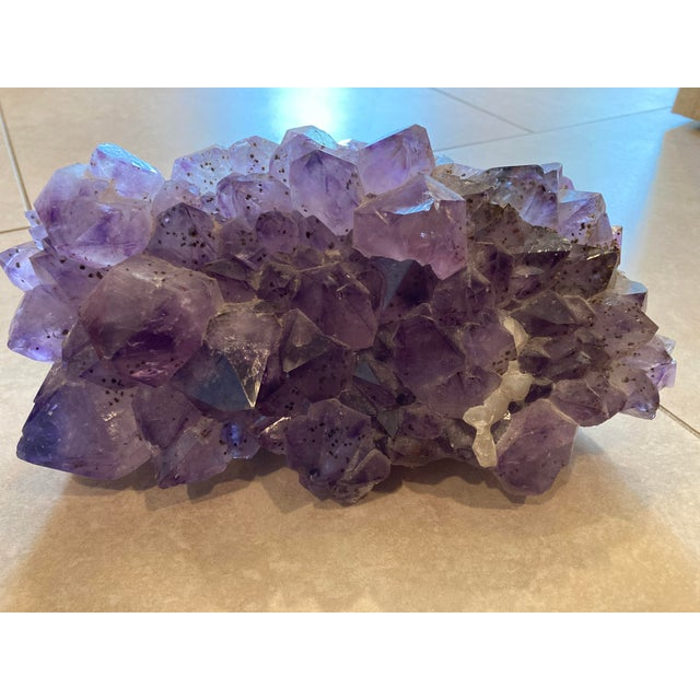 Amethyst Large Cut Cluster For Sale In Portland, OR - Image 6 of 6