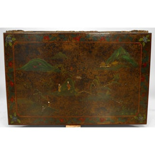 Asian Chinese Style Carved and Lacquered Coffee Table Preview