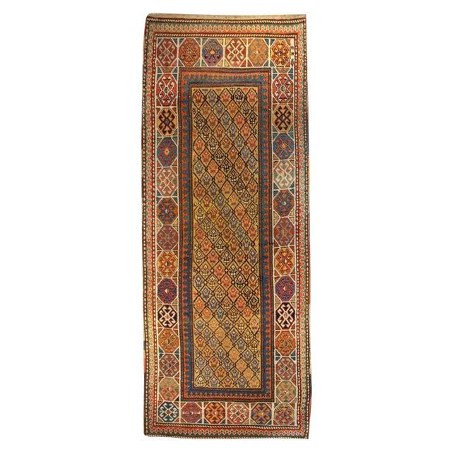 "19th Century Gangeh Carpet - 3'3"" x 9' For Sale"