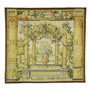 Garden View Tapestry, Inspired by Jacob Wauters, Flemish Tapestry of a Pergola - 05'03 X 05'07 For Sale
