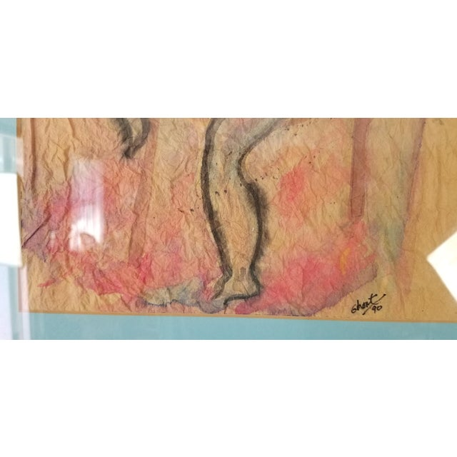 1990 Ghort Marino Abstract Nude Female Painting For Sale - Image 9 of 11
