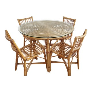 1950s Boho Chic Franco Albini Dining Set - 5 Pieces For Sale