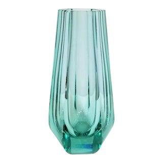 1960s Vintage Moser Glass Vase With Acid Stamp For Sale