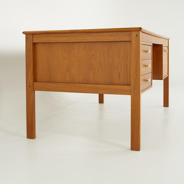Farso Stolefabrik for Maurice Villency Mid Century Danish Teak Desk For Sale In Chicago - Image 6 of 13
