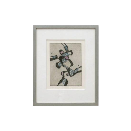 Abstract Hand Colored Lithograph For Sale