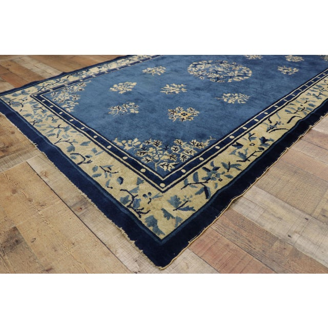 1910s Antique Chinese Peking Rug- 4′1″ × 6′9″ For Sale In Dallas - Image 6 of 10