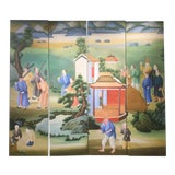 Image of Chinoiserie Mural Painting on Panels For Sale