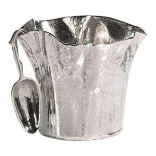 Freeform Aluminum Ice Bucket With Scoop For Sale