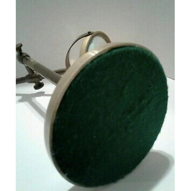 Vintage Sarreid Ltd. Brass Magnifying Glass on Adjustable Stand For Sale - Image 9 of 10