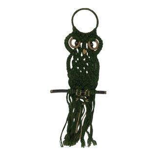 1970's Macrame Owl Wall Hanging