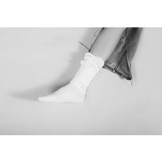 White Sock Print by Nicole Cohen