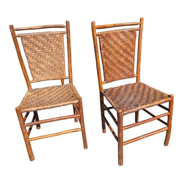 Old Hickory Dining Chairs - a Pair For Sale