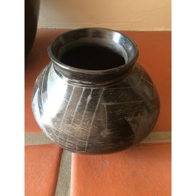 Black Indian Pottery - Set of 3 - Image 6 of 11