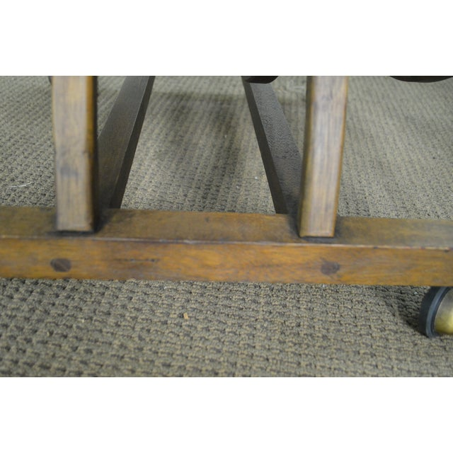 Textile Custom Pair of Mid Century Modern U Shaped Southwest Influenced Bent Wood Lounge Chairs For Sale - Image 7 of 10