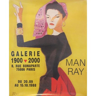 Original 1988 French Man Ray Exhibition Poster, Galerie 1900 2000 For Sale