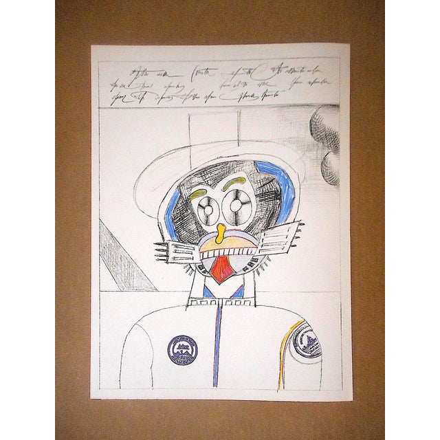 1970s Vintage Mid 20th C. Ltd. Ed Lithograph From Derriere Le Miroir No.205-Saul Steinberg-1973 For Sale - Image 5 of 5