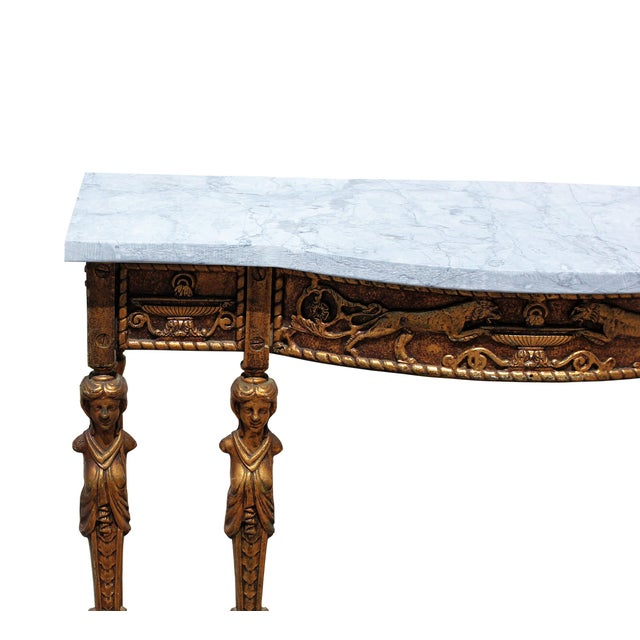 1920s 1920s Art Deco Marble Top Iron Table For Sale - Image 5 of 11