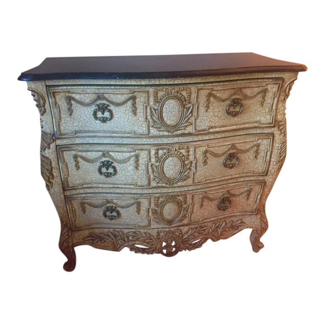 French Provincial Style Chest With Marble Top - Image 1 of 7
