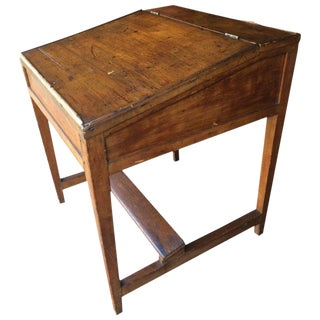 Wonderful Old Slant Top Pine Desk