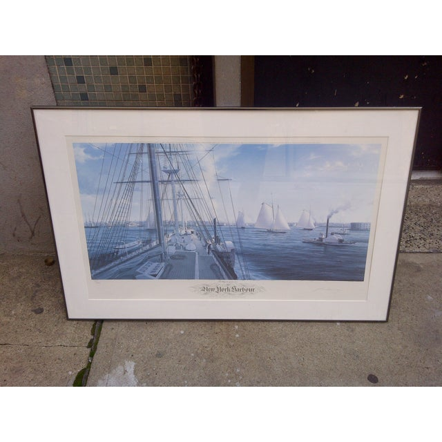 New York Harbour -- May 14, 1851 -- From The Painting Of And Signed By -- John Mecray Limited Edition Numbered Print -- 15...