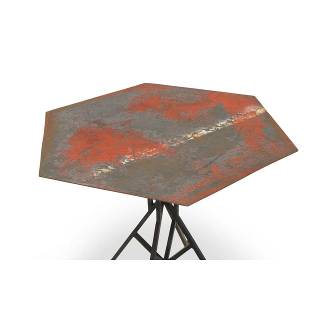 Arts & Crafts Beautifully Distressed Frank Lloyd Wright & Warren McArthur Biltmore Cafe Table For Sale - Image 3 of 8
