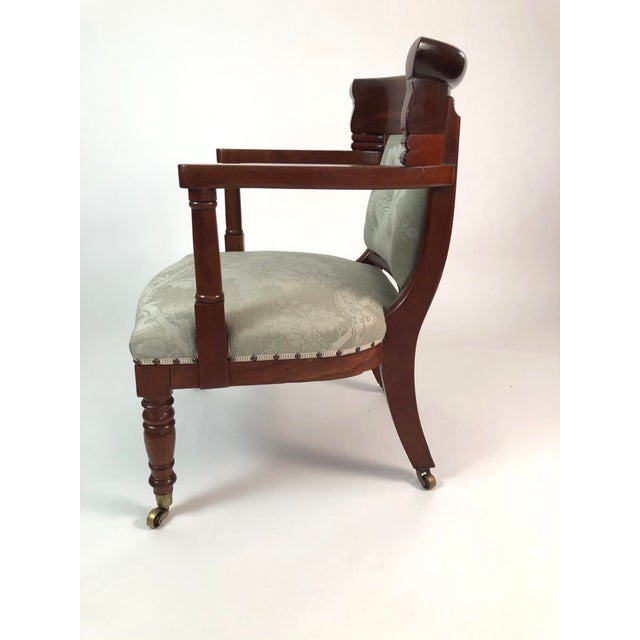 French 19th Century French Empire Neoclassical Armchair For Sale - Image 3 of 11