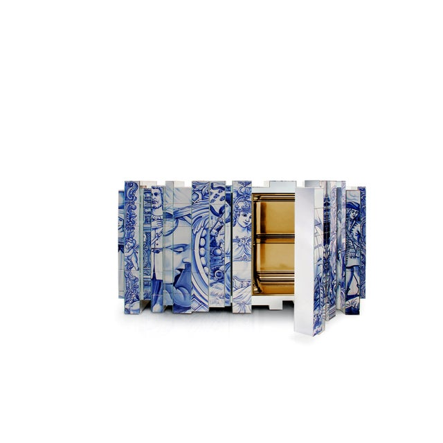 Contemporary Heritage Blue Sideboard From Covet Paris For Sale - Image 3 of 6