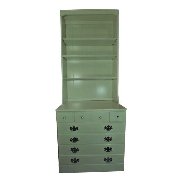 Ethan Allen White Dresser & Hutch For Sale