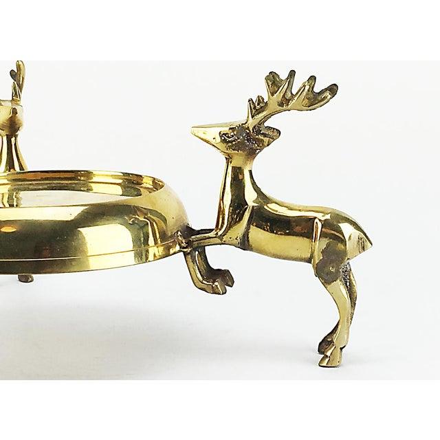 Vintage Brass Reindeer Candle Holders – Pair - Image 4 of 5