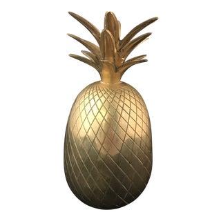 Vintage Brass Pineapple Candle Holder For Sale